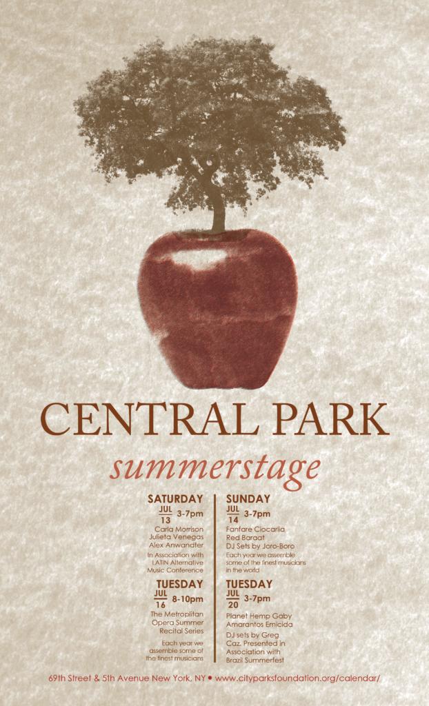 Central Park summerstage Venue Poster