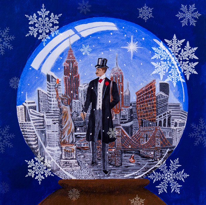 An Englishman in New York Sting Album Cover Conceptual Album Cover with Snowflakes