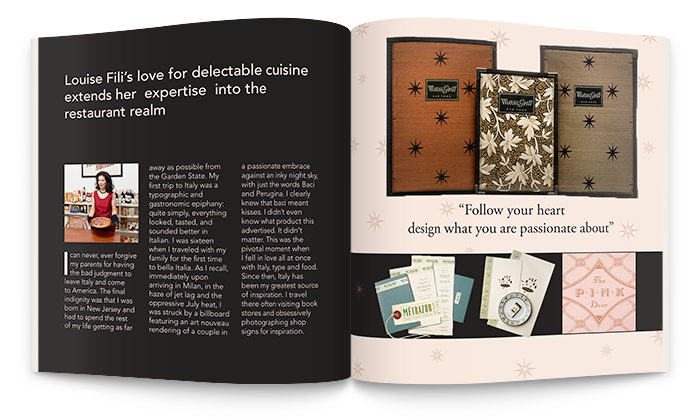 Louise Fili Designer Publication Editorial Layout